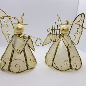 Vintage Acrylic Angel Ornaments (pair)